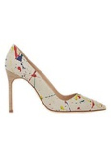 Manolo Blahnik Paint Splatter-Print BB Pumps