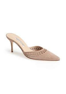 Manolo Blahnik Perforated Pointy Toe Mule (Women)