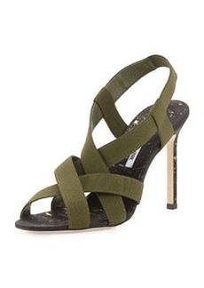 Manolo Blahnik Perpia Strappy Stretch Sandal