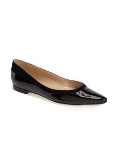 Manolo Blahnik 'Preflat' Pointy Toe Flat (Women)