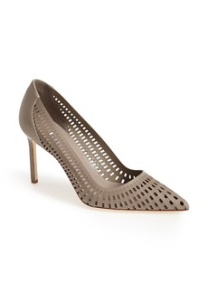 Manolo Blahnik 'Pussna' Cutout Leather Pump (Women)