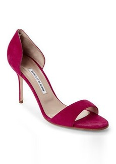 manolo blahnik Raspberry Catalina d'Orsay Pumps