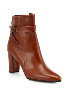 Manolo Blahnik Ribafa Leather Ankle Boots