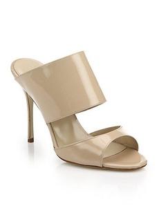Manolo Blahnik Ripta Patent Leather Mule Sandals