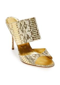 Manolo Blahnik 'Ripta' Snake Print Sandal (Women)