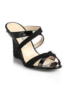 Manolo Blahnik Strappy Wedge Sandals