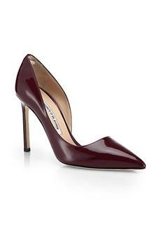 Manolo Blahnik Stresty Patent Leather d'Orsay Pumps
