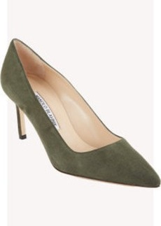Manolo Blahnik Suede BB Pumps
