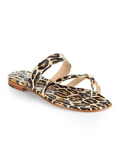 Manolo Blahnik Susa Animal-Print Snakeskin Sandals
