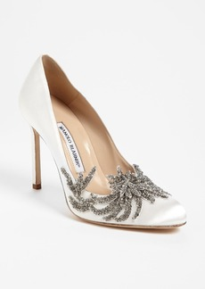 Manolo Blahnik 'Swan' Pump (Women)