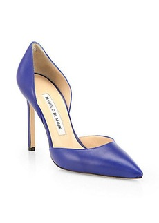 Manolo Blahnik Tayler Leather d'Orsay Pumps