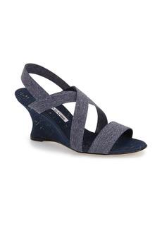 Manolo Blahnik 'Terwe' Wedge Sandal (Women)