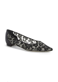 Manolo Blahnik 'Tittola' Floral Lace Pointy Toe Pump (Women)