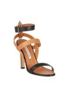 Manolo Blahnik Trioja Bi-Color Sandals