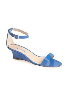Manolo Blahnik 'Valere' Ankle Strap Wedge Sandal (Women)