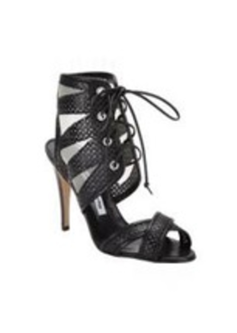 Manolo Blahnik Vestalabar Perforated-leather Cutout Sandal