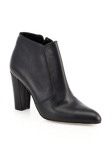 Manolo Blahnik Zavattplao Leather Ankle Boots