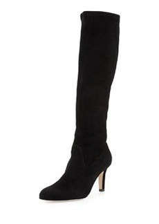 Pascaputre Suede Knee-High Boot, Black   Pascaputre Suede Knee-High Boot, Black