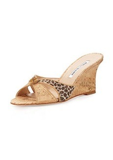 Tailobo Embossed Cork Sandal, Natural   Tailobo Embossed Cork Sandal, Natural
