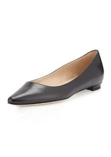 Titto Pointed-Toe Ballerina Flat, Black   Titto Pointed-Toe Ballerina Flat, Black