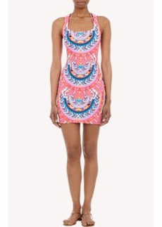 Mara Hoffman Abstract-Print Mini Tank Dress