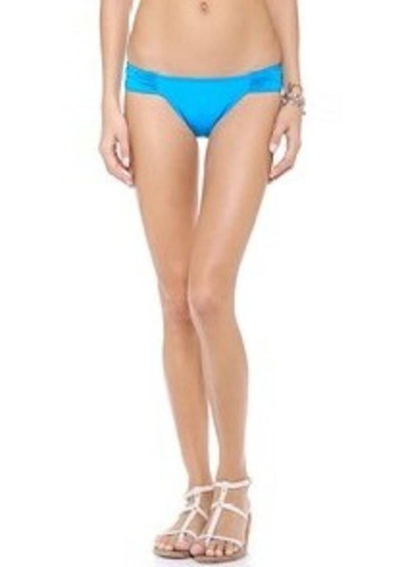 Mara Hoffman Ananda Ruched Side Bikini Bottoms