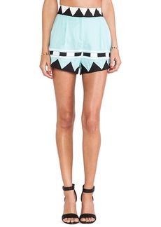 Mara Hoffman Applique High Waisted Shorts in Mint