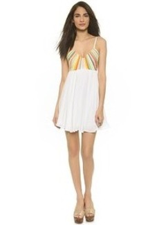 Mara Hoffman Beach Embroidered Mini Dress
