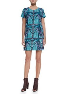 Mara Hoffman Camel-Print Tee Shift Dress