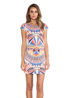Mara Hoffman Cap Sleeve Mini Dress in Pink