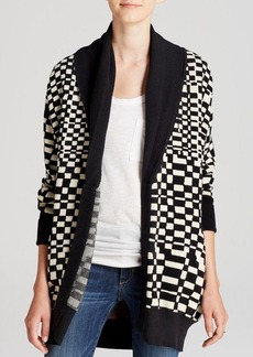 Mara Hoffman Cardigan - Checkered Jacquard
