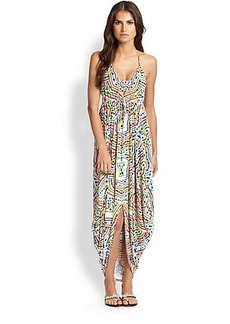 Mara Hoffman Cocoon-Hem Print Halter Dress
