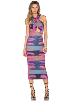 Mara Hoffman Criss Cross Midi Dress