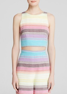 Mara Hoffman Crop Top - Rainbow Stripe