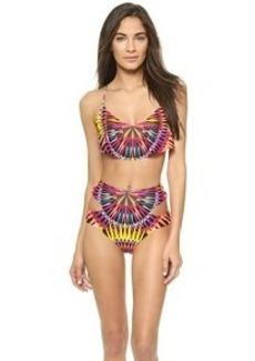 Mara Hoffman Cropped Froth Bikini Top