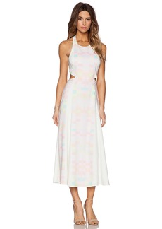 Mara Hoffman Cut Out Back Tie Maxi Dress