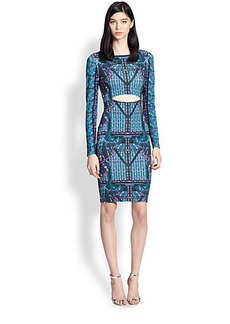 Mara Hoffman Cutout Printed Stretch Jersey Dress