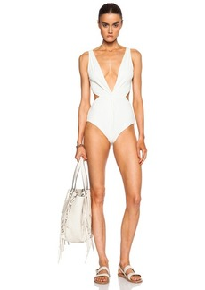 Mara Hoffman Front Twist Swimsuit