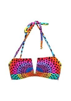 Mara Hoffman Electrolight-print bandeau bikini top