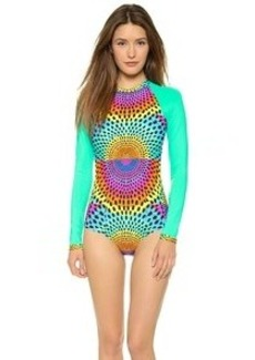 Mara Hoffman Electrolight Rash Guard Surf Suit