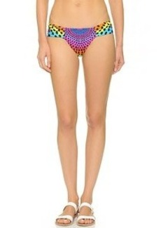 Mara Hoffman Electrolight Ruched Bikini Bottoms