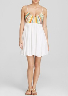 Mara Hoffman Embroidered Bodice Swim Cover Up Dress