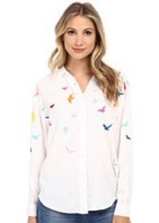 Mara Hoffman Embroidered Button Up Shirt