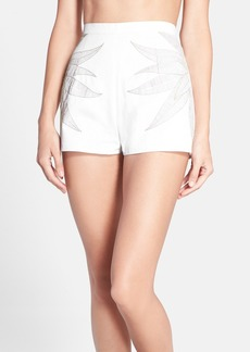 Mara Hoffman Embroidered Jean Shorts