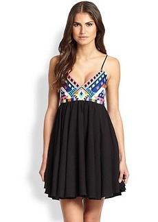 Mara Hoffman Embroidered Mini Dress