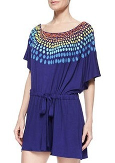 Mara Hoffman Embroidered Modal Romper Coverup