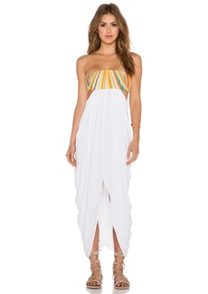 Mara Hoffman Embroidered Strapless Maxi Dress