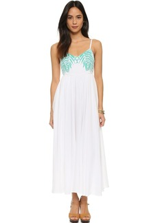 Mara Hoffman Embroidered Tie Back Dress