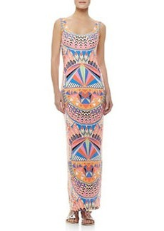 Mara Hoffman Fitted Printed Tank Maxi Dress