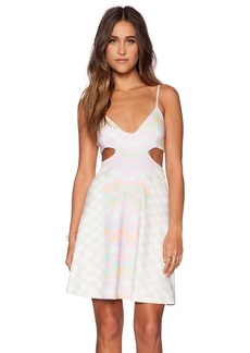 Mara Hoffman Flare Cut Out Mini Dress